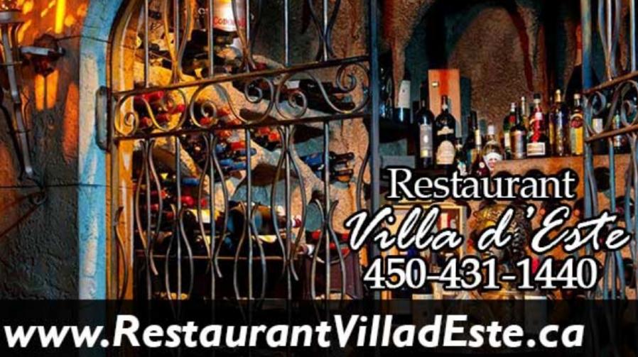 Rejoignez le cœur de la capitale italienne dans notre restaurant Villa d'Este à St-Jérôme ! Villa d'Este est un magnifique patrimoine culturel ...