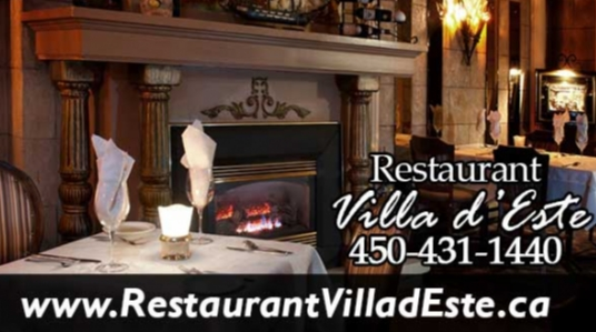 Italian restaurant, fine Italian cuisine, wine cellar, cafe and flamed dessert, Italian chateau style (Villa d'Esté), live music on Friday and Saturday, group booking
